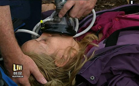 Gillian being resuscitated
